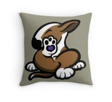 English Bull Terrier Kicking Back Brown and White  Throw Pillow