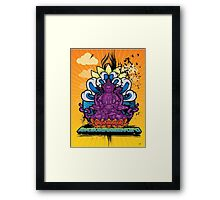 Buddha Graffiti Framed Print
