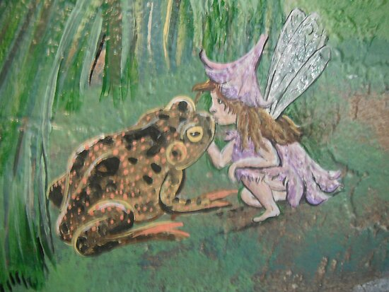 Fairy Kissing Taod by Wendy Crouch