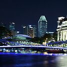 Bluish Night by the River by Azmi Zakariah