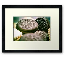 Oreo Biscuits Framed Print