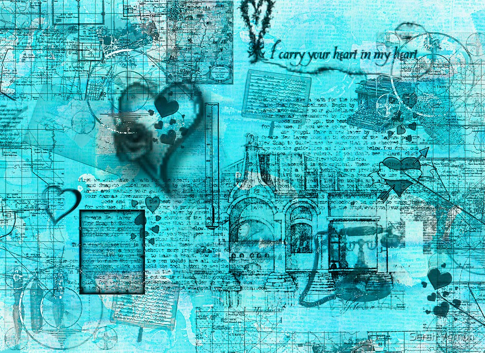 Map of the Heart I by Sarah Vernon