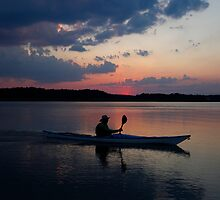 Sunset Kayaker by Amy Jackson
