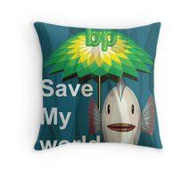 Save My World Throw Pillow