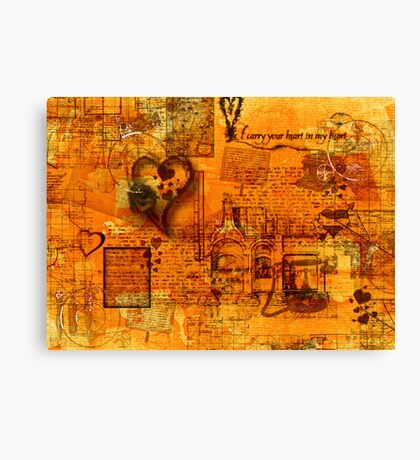 Map of the Heart III Canvas Print