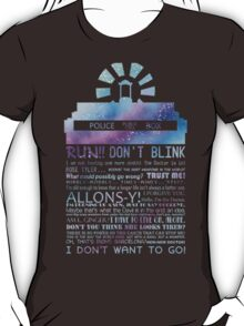 10TH doctor QUOTES T-Shirt
