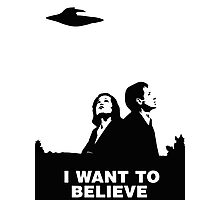MULDER & SCULLY - I WANT TO BELIEVE Photographic Print