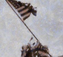 Iwo Jima by John Springfield Sticker