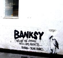 Banksy vs. TEAM ROBB☮ by katielovesphoto