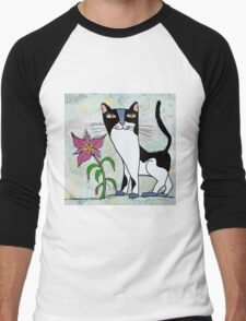 Poncho and the lily Men's Baseball ¾ T-Shirt