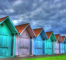 Southsea Beach huts by Speaky