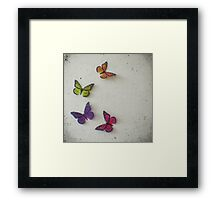Oh to be a Butterfly Framed Print
