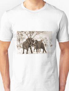 fighting male African Elephants T-Shirt