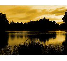 Reflections In Orange Photographic Print