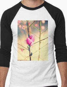 Textured Bloom Men's Baseball ¾ T-Shirt