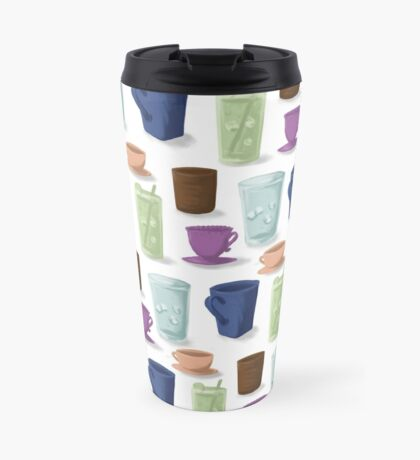 Drinks in Cups Travel Mug