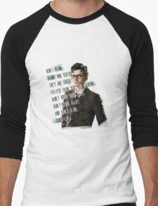DON'T BLINK!! Men's Baseball ¾ T-Shirt