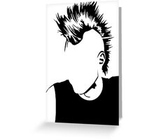 Punk Vacant expression Greeting Card