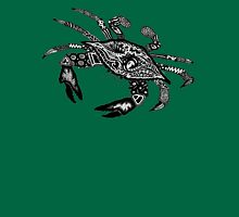 Blue Crab on Green Unisex T-Shirt