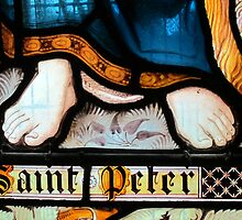 Detail of Stained glass window, Adlestrop Church, Gloucestershire, UK by buttonpresser