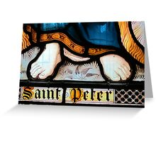 Detail of Stained glass window, Adlestrop Church, Gloucestershire, UK Greeting Card