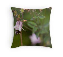 Bee on purple flower Throw Pillow