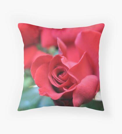 Run amok Red Roses Throw Pillow