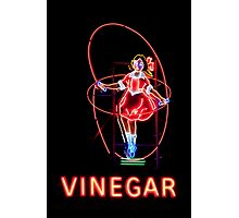 Skipping Girl Neon Clothing Photographic Print