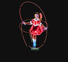Skipping Girl Neon Clothing Womens Fitted T-Shirt