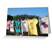 Fruitcake Tee's in the summer breeze..... Greeting Card
