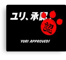 Yuri Kuma Arashi - Yuri approved! Canvas Print