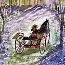 Out In The Meadowbrook Cart  by AngieDavies