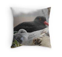 California Marsh Birds Throw Pillow
