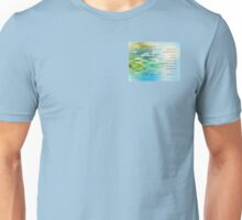 Serenity Prayer Koi Pond Blue Green Unisex T-Shirt