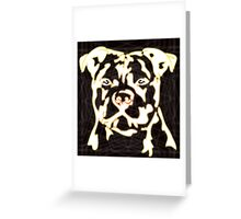 strong pitbul with illustration Greeting Card