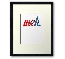 meh - Blue-red Framed Print