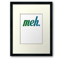 meh 2 - blue green Framed Print