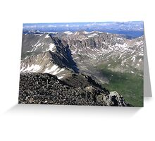 The Western Mountains of San Isobel National Forest, Mount Democrat, CO 2010 Greeting Card