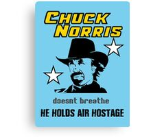 Chuck be tough.  Canvas Print