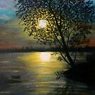 Acrylic Painting of A Sunset   by MaeBelle