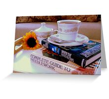 Just a cuppa cozy........ ^ Greeting Card