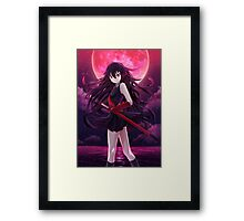 akame blood moon Framed Print