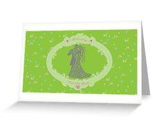 Wedding Tattered Design  Greeting Card