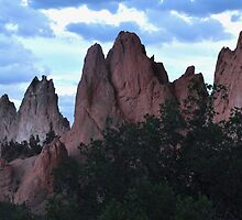night falling on garden of the gods by 1busymom