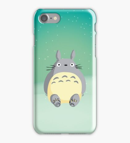 Totoro in the Snow iPhone Case/Skin