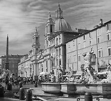 Piazza Navona, Roma by Stephen Knowles