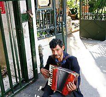 Street Performer in Taormina Italy by tamarakenyon
