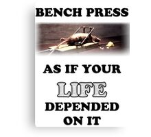 Bench Press - light shirts Canvas Print