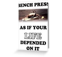 Bench Press - light shirts Greeting Card