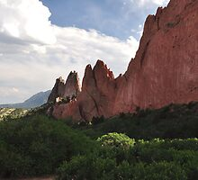garden of the gods view near the main parking lot by 1busymom